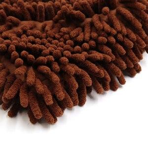 Image 5 - UXCELL Microfiber Chenille Wash Mitt Mitten Home Kitchen Car Vehicle Dust Cleaning Glove Brown