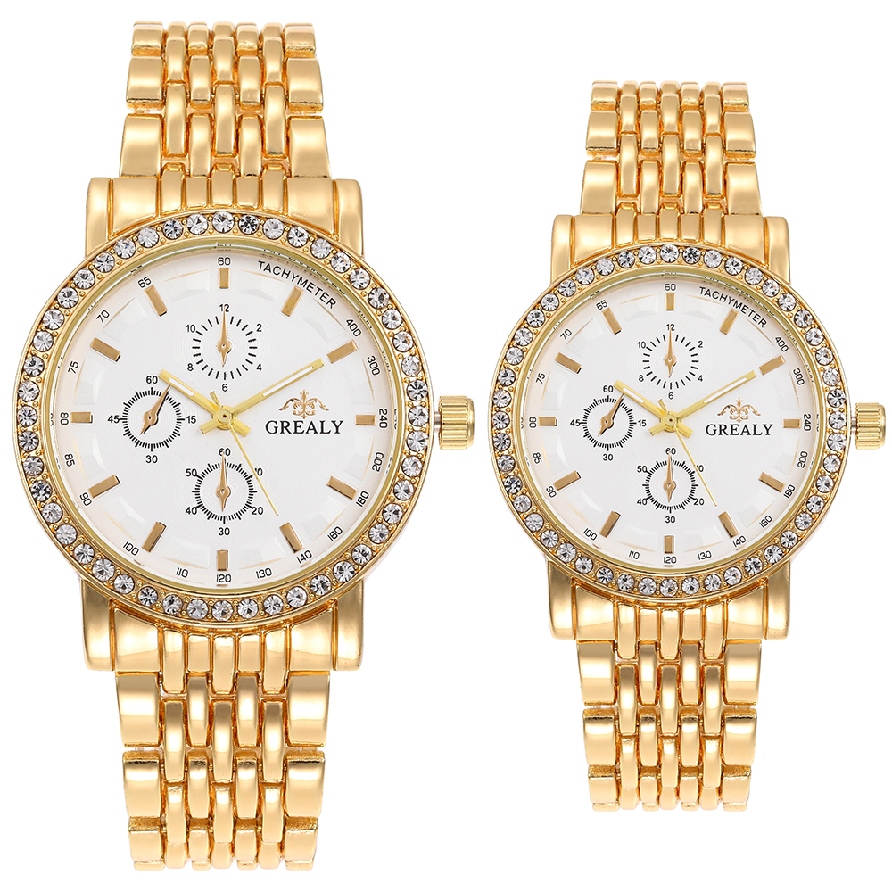 Lovers' Wristwatches Fashion Business Design Couple Watches For Men Women Quartz-watches Grealy Brand Clock Top Hot