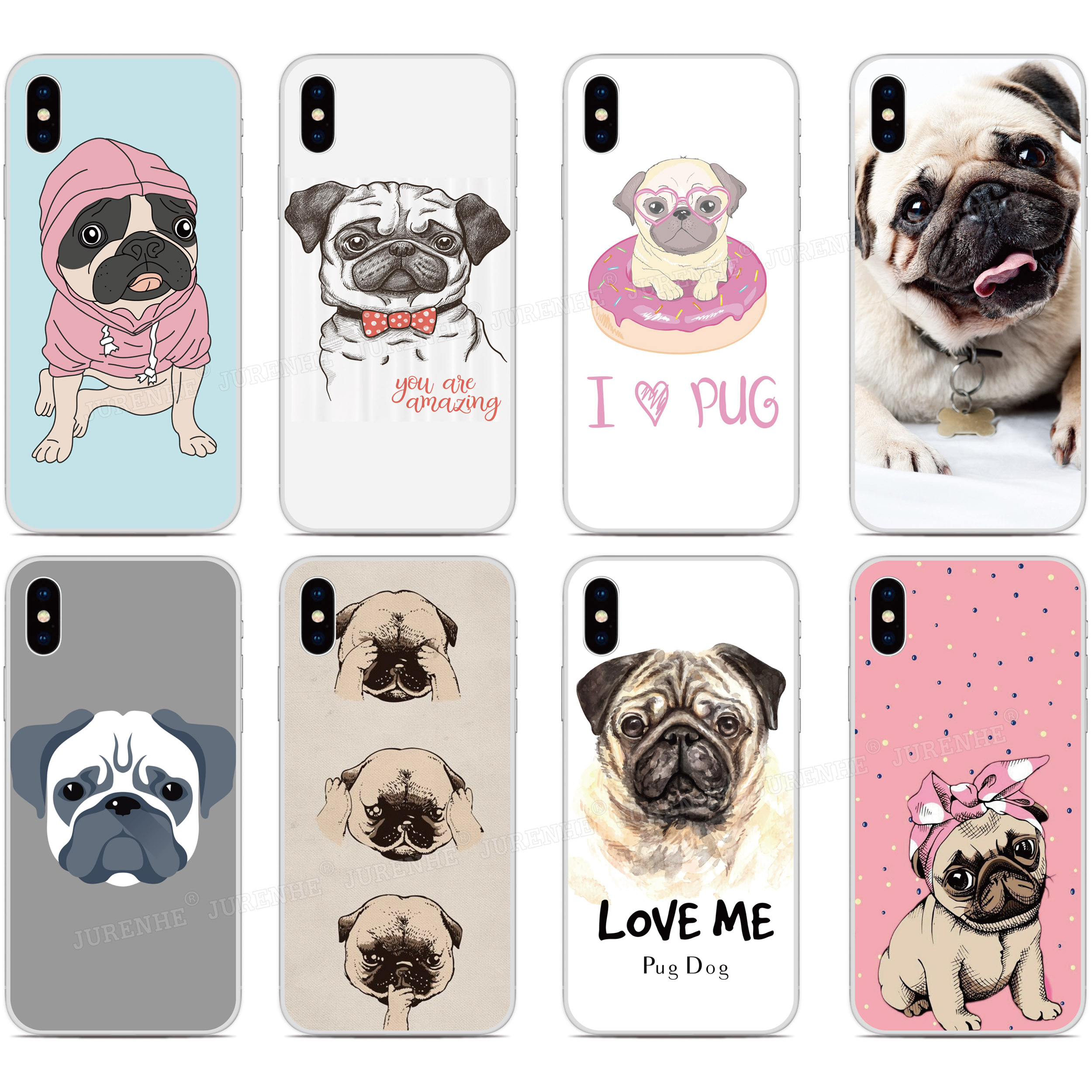 Custom Photo Funny Pug Puppy Silicone Cover For Umidigi A3x A3s F2 F1 Play X One Max A5 A3 A7 S2 S3 S5 Pro Power 3 Phone Case Fitted Cases Aliexpress