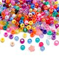 100 шт./лот разноцветные акриловые трубки 6x9 мм 4 мм большие отверстия разделительные бусины для изготовления ювелирных изделий своими руками...