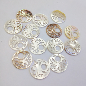 2Pcs Sculpture Flower-shaped Shell Loose Beads Charms For DIY Necklace Bracelet Anklet Handiwork Sewing Craft Jewelry