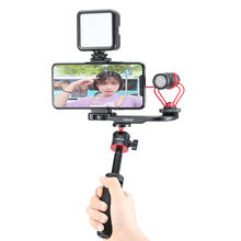 Ulanzi PT 8 PT 9 Smartphone Vlog Mount Plate for Gopro DSLR Camera Sony A6300 A6400 Cold Shoe Vlog Mount for Microphone LED