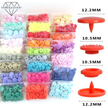 KAM Round Snaps Buttons For Bib 20 Sets T5 Plastic Cover Press Button Fastener Snap For Clothes Accessories DIY Crafts 35Colors