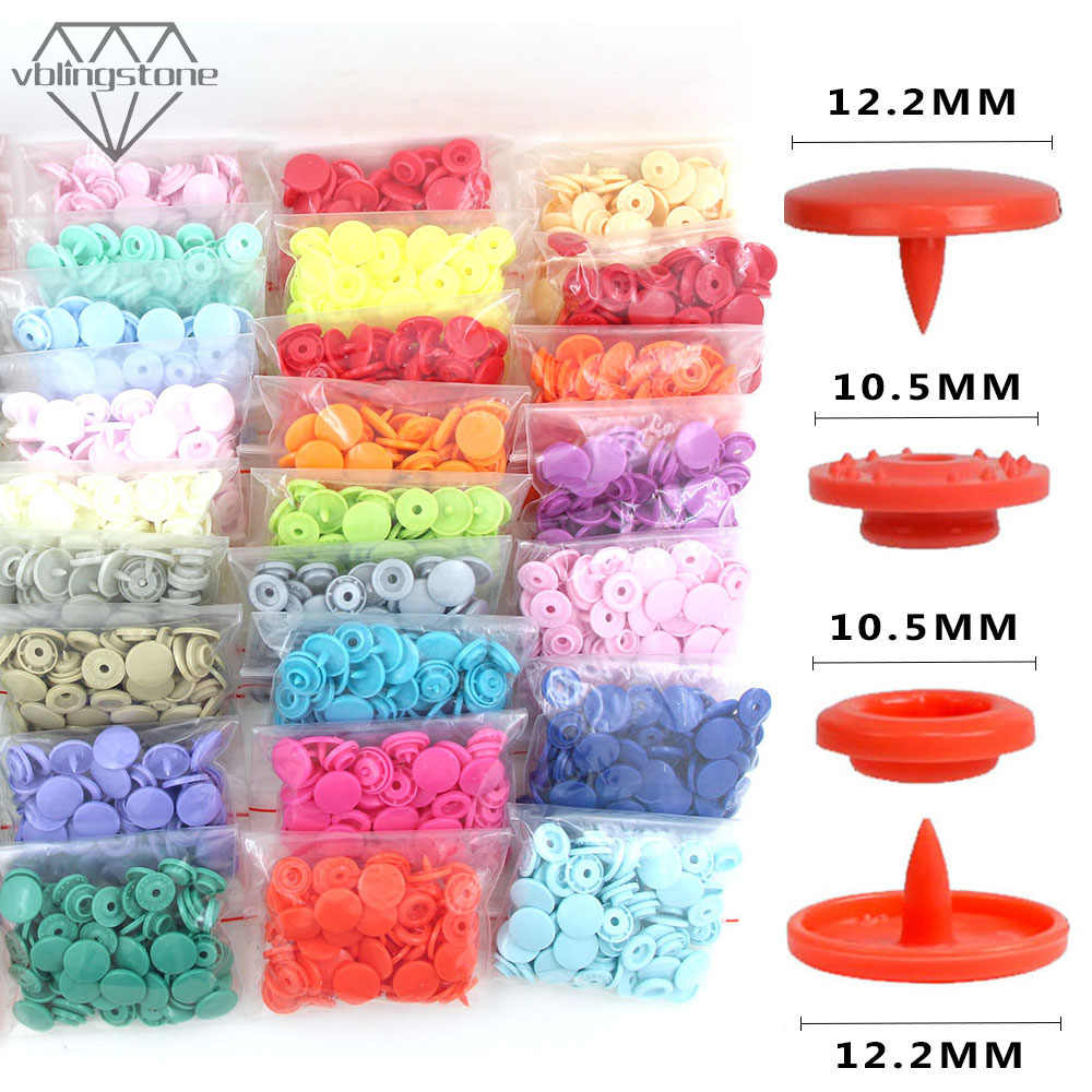 KAM okrągłe zatrzaski guziki na Bib 20 zestawów T5 plastikowa obudowa napa zapięcie na akcesoria odzieżowe DIY rzemiosło 35 kolorów