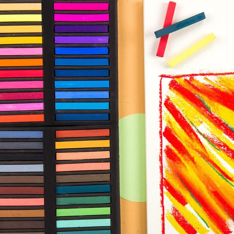 Soft Pastel Set Square Pastels Chalks Square Artist Pastel Set Box Of 12/24/36/48 Assorted Colors PR Sale
