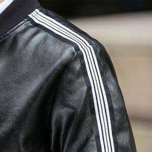 Image 5 - Blouson automne hiver en cuir homme, coupe vent PU, vêtement grande taille 6XL 7XL 8XL et 9XL, 2020