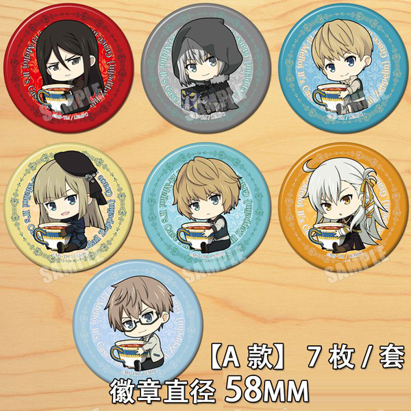 Anime Lord El-Melloi II Case Files Atrum Galliasta Badge Button Brooch Pins Medal Collect Backpacks Badge Pendant Decor Cosplay