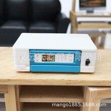 1: 12 кукольный домик мини офисные Миниатюрные аксессуары Ob11 Высококачественная модель принтера люминесцентная