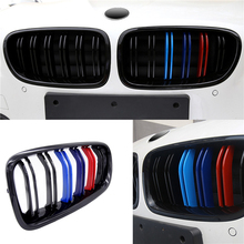 1 Pair New Car Racing Grill Front Kidney Grilles M Color 1 Line 2 Line For BMW F30 F31 F35 320i 328i 335i 2012-2015 2016 2017 ea1687 ghana 2012 butterfly stamp 1 1 m new 1120 ms