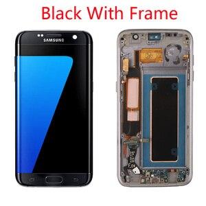 Image 2 - Grade Aaa + + + Originele 5.5 Super Amoled Lcd Met Frame Voor Samsung Galaxy S7 Edge Lcd G935 G935F Touch screen Digitizer Display