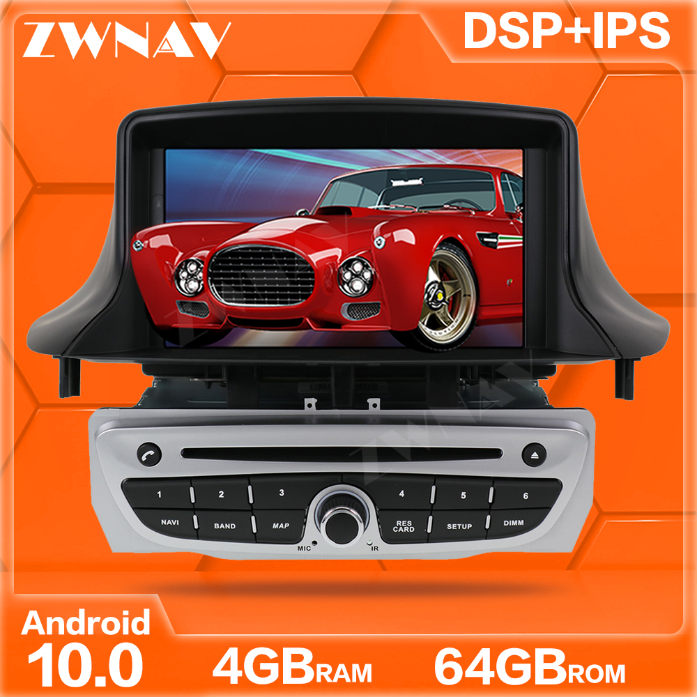 Android 10.0 screen Car DVD Player <font><b>GPS</b></font> Navi For Renault <font><b>Megane</b></font> <font><b>3</b></font> Fluence 2009-2015 Auto Radio Stereo Multimedia Player Head Unit image