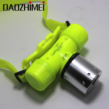 waterproof Underwater 3800 Lumen XM-L XML T6 Headlamp Swimming Diving Headlight Dive Head Light Torch Lamp+ battery/Charger/box