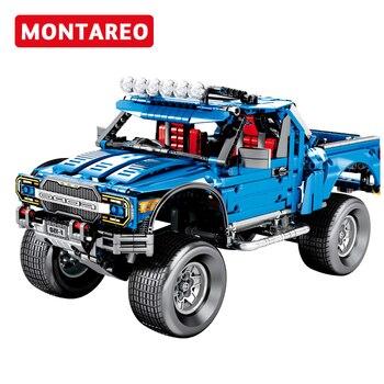 Technic compatible The F 150 Raptor Pickup Model Building Blocks Classic Expert Vehicle bricks Toys Children Kids Birthday Gifts