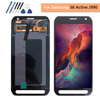 Tested Lcd For Samsung Galaxy S6 Active LCD Touch Screen Digitizer Display G890 G890A SM G890 Assembly Replacement