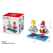 New Building Blocks Bricks Christmas Series DIY Small Particles Santa Claus Snowman Mini Stereo Assembled Blocks Toys For Kids