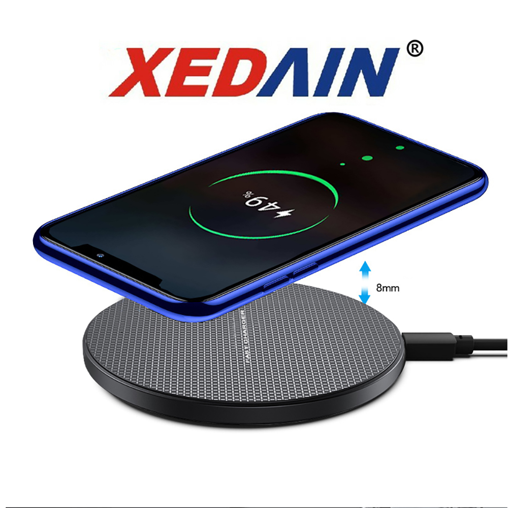 10W Wireless Charger Base Charging Phone LED Cable For Samsung Galaxy S10 S9 S8 Note 10 Buds USB For IPhone 11 Pro 8 XS Max XR
