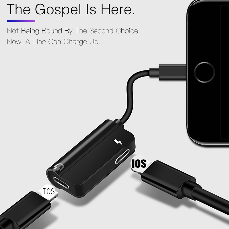 Горячий Новый 2в1 Aux кабель сплиттер Джек адаптер для наушников для iPhone 11 Pro MAX 7 8 Plus X XS XR MAX IOS12 13 3,5 мм адаптер для зарядки