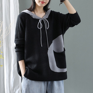 Image 3 - Max LuLu Winter Korean Fashion Fitness Jumper Ladies Thicken Punk Clothes Womens Hooded Cotton Knitted Sweater Vintage Pullovers