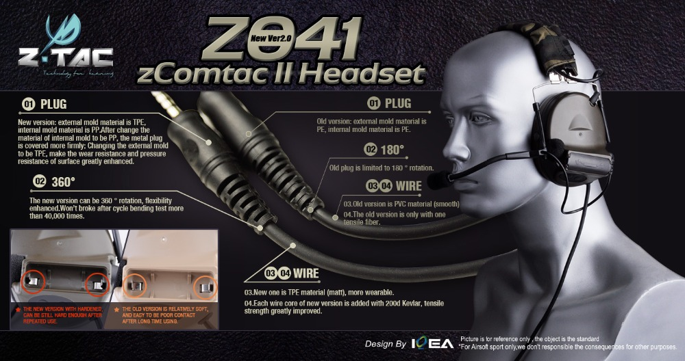 de ouvido tático z041 fone de ouvido