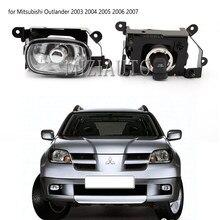 1 шт. передние противотуманные светильник DRL Дневной светильник для Mitsubishi Outlander 2003 2004 2005 2006 2007 галогенные лампы передний бампер противотуман...