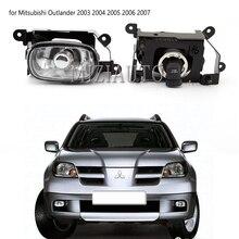 2pcs Front Fog Light DRL Daytime Running Light for Mitsubishi Outlander 2003 2004 2005 2006 2007 Halogen Bulb Front Bumper Lamp цена 2017