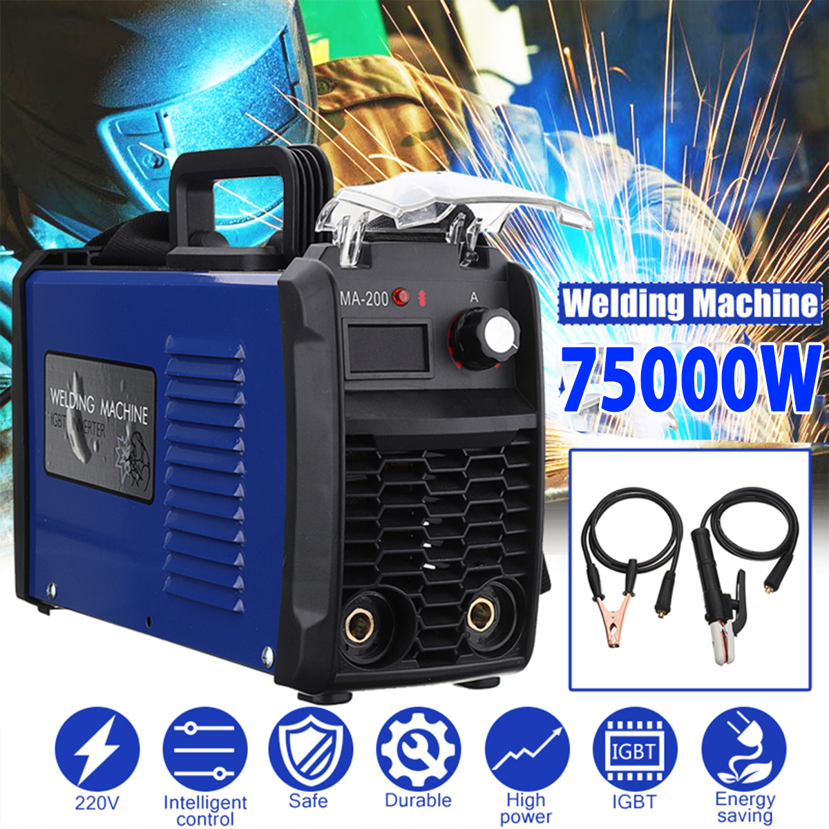 FORGELO 6000W 7500W DC Inverter <font><b>ARC</b></font> Welders IGBT MMA 220V Welding Machine MMA-<font><b>200</b></font>/MMA-250 for Home Beginner Lightweight Efficien image