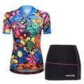 WOSAWE Frauen Sommer Mtb Radfahren Kleidung Atmungsaktiv Radfahren Jersey Sets Fahrrad Short Maillot Ciclismo Fahrrad Kleidung