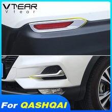 Vtear para Nissan Qashqai j11 dutalis tapa para faros de niebla cuerpo trasero delantero Exterior decoración de cromo accesorios de estilo para coche 2019 2020