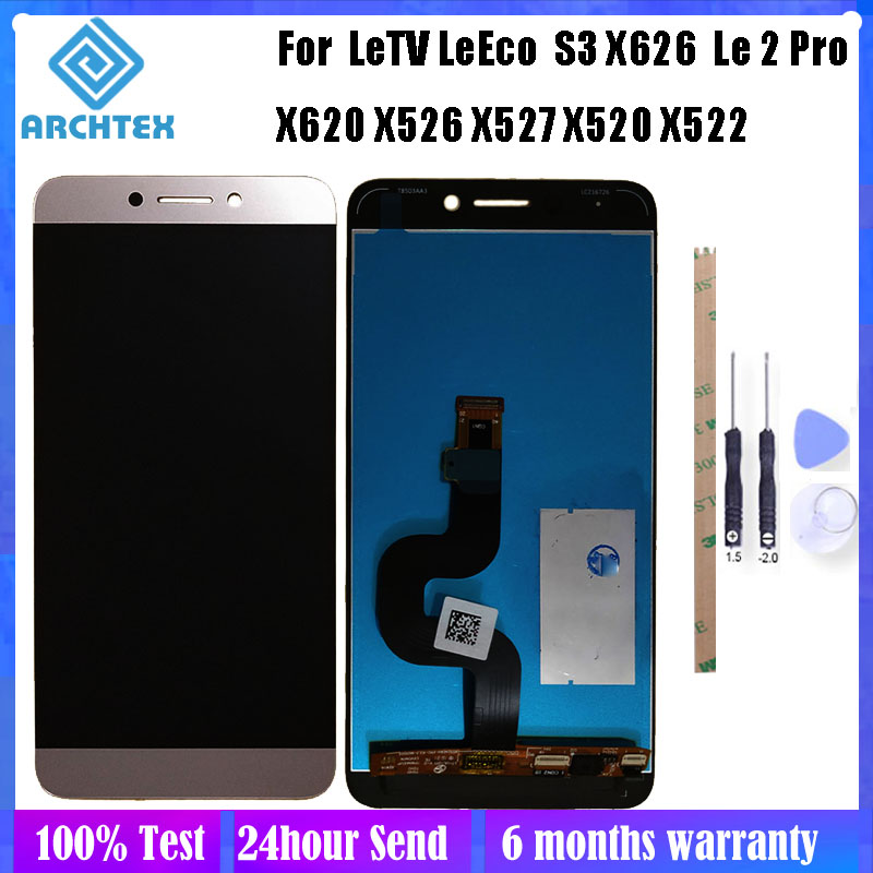 5.5 Inch For Original Letv LeEco Le S3 X626 X620 X622 X522 X532 X520 X526 LCD Display + Touch Screen Digitizer Assembly Parts