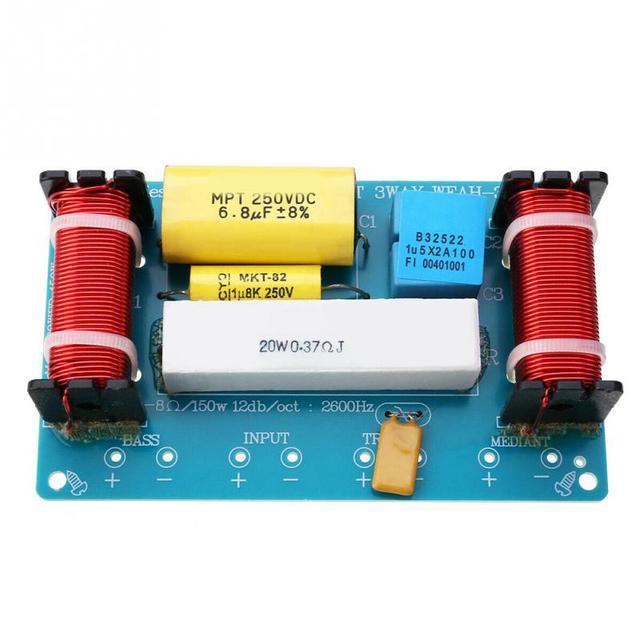 Séparateur de fréquence haut parleur scène accessoires bricolage outil pour haut parleur maison remplacement filtre croisé 3 voies Audio pratique