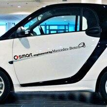 Acessórios do carro Inteligente Projetado Pela Porta Lateral & Linha de Cintura Adesivo Decalque e Toda A Decoração do Corpo para Smart Fortwo