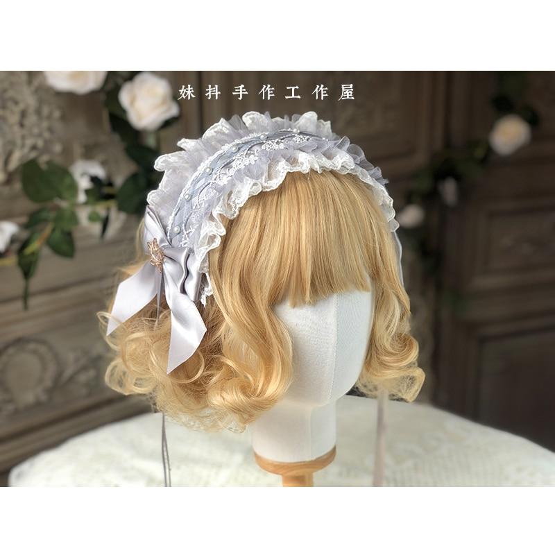 Hair-Band Headwear Hand-Made Lolita Side-Clip Small Kc Angel-Street Star-Picking Things