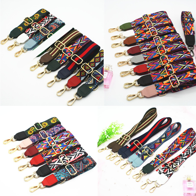 Rainbow Bag Strap Handbag Belt Wide Shoulder Bag Strap Replacement Strap Accessory Bag Part Adjustable Belt For Bag 140cm