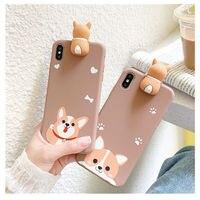 Cartoon Corgi Hunde Weiche TPU Fall Für Xiaomi mi 11 Mi10 Mi 9 CC9 9s 8T Telefon Abdeckung für Redmi Hinweis 10 9 8 Pro 7 10s 10T Lite Capa