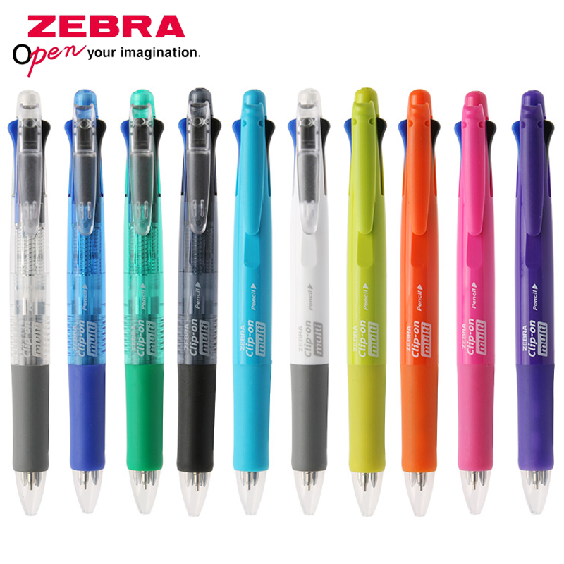 Creative 0.7mm  Plastic Ballpoint Pen Red Blue Green Black Ink Pens 4 In 1 Pens