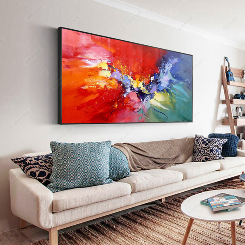100 Hand Painted Abstract Color Art Oil Painting On Canvas Wall Art Wall Adornment Pictures Painting For Live Room Home Decor in Painting Calligraphy from Home Garden