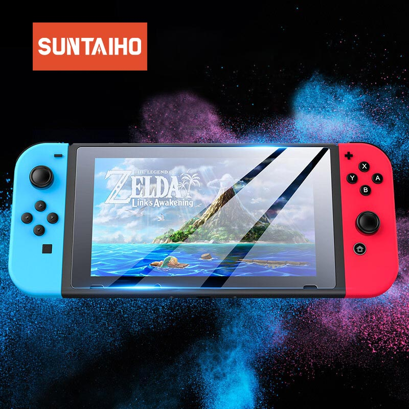 Suntaiho 3PCS For Nintend Switch Screen Protector Film Cover Anti-Scratch High HD Tempered Glass Protection Switch For Nintendo