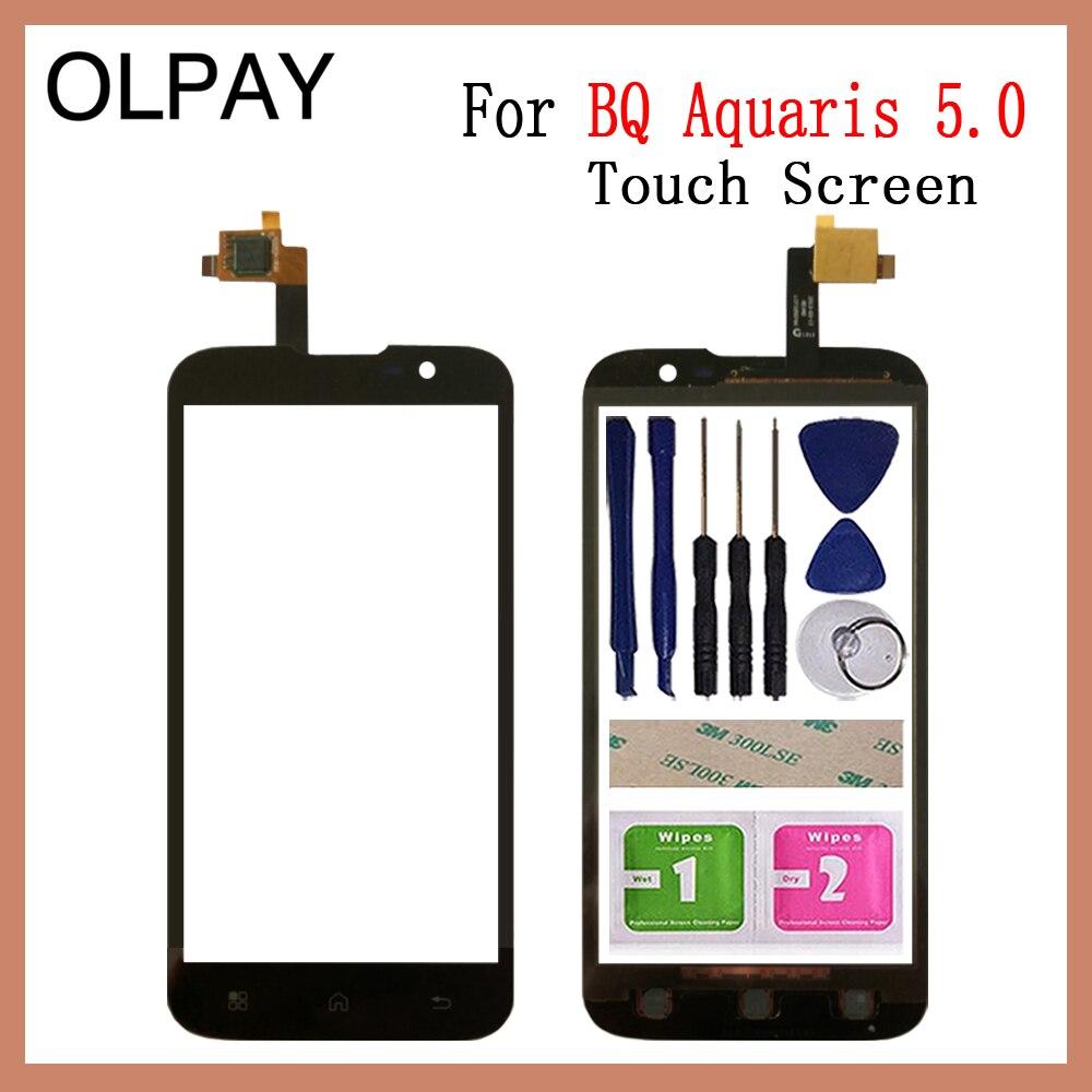 OLPYA 5.0'' Mobile Phone Touchscreen For BQ Aquaris 5.0 Touch Screen Glass Digitizer Panel Lens Sensor Glass Repair Parts
