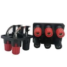 Banaan jack WP4 10A 4/6Pin Gebogen Voet Luidspreker Versterker Panel Terminal Schakelaar Audio Externe Bedrading Socket Conneector
