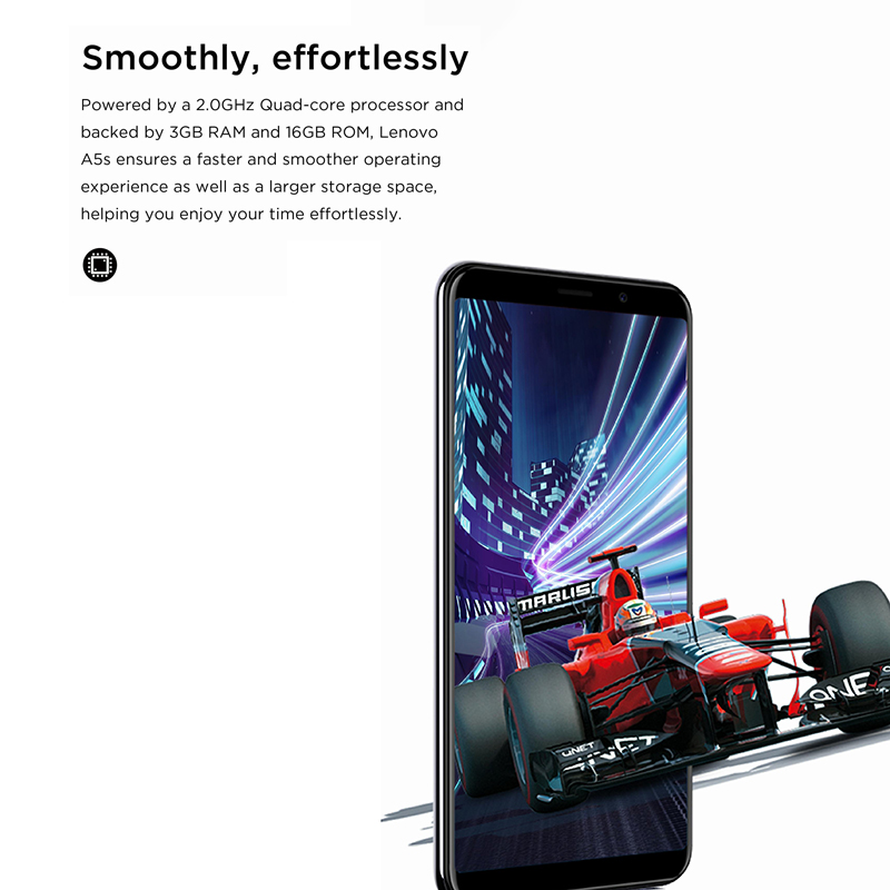 Image 2 - Global Version Lenovo A5S A5 S MTK6761 Quad core 5.45 inch Smartphone 2GB 16GB ROM Android P Face ID 4G Cellphone-in Cellphones from Cellphones & Telecommunications