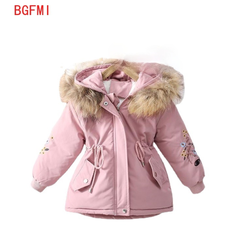 Winter Coat for Girls Toddler Girl Winter Clothes Winter Plus Velvet Thick Parka Girls Pink Pie To Overcome Cotton Hooded Jacket