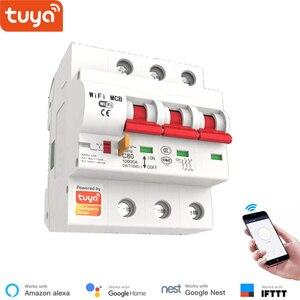 Image 4 - Tuya חכם WiFi מפסק 100A 1P/2P/3P/4P חכם ממסר אוטומטי מתג עומס יתר הגנה קצרה Lan שליטה