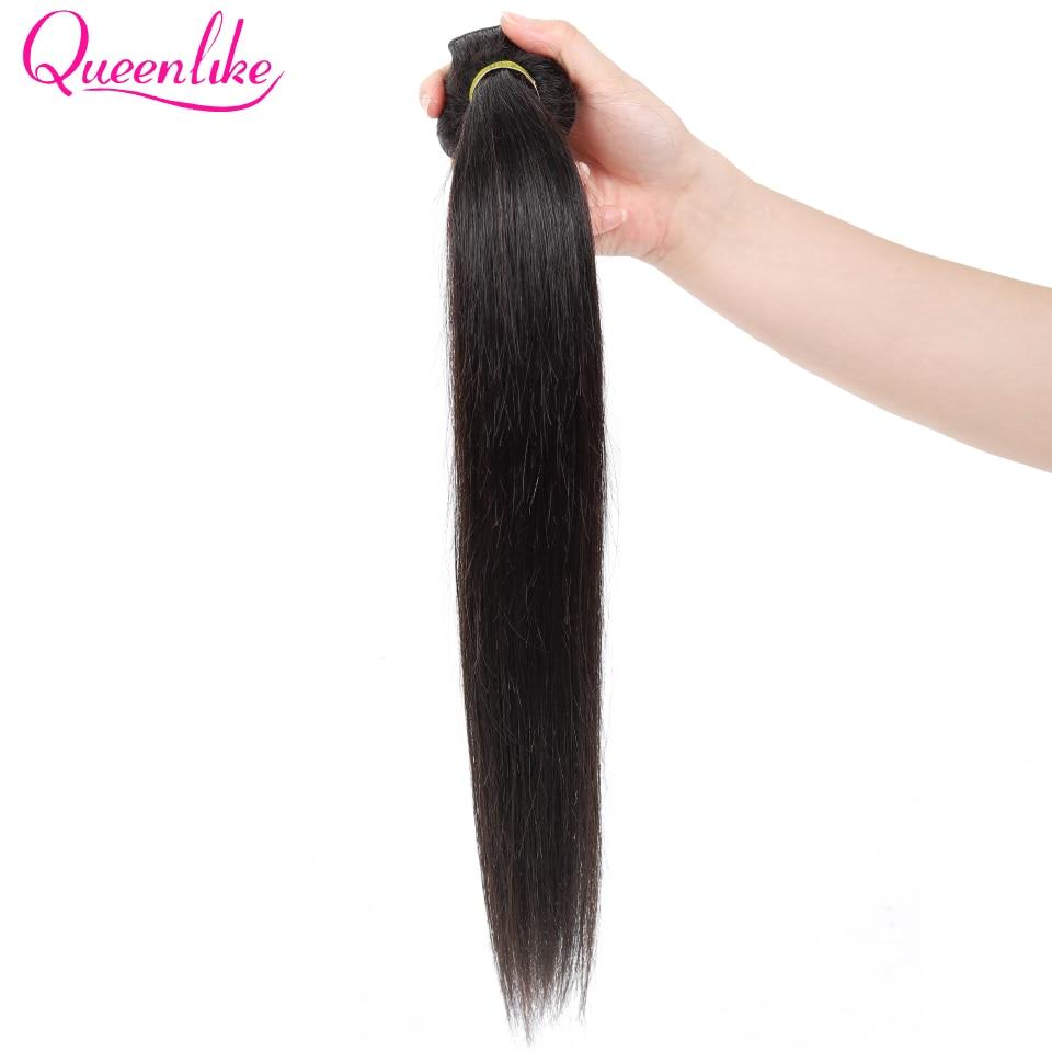 H3ec8fd83337243629f38b801ddf860c37 Queenlike 100% Human Hair Weave Bundles With Closure Non Remy Hair Weft 3 4 Bundles Brazilian Straight Hair Bundles With Closure