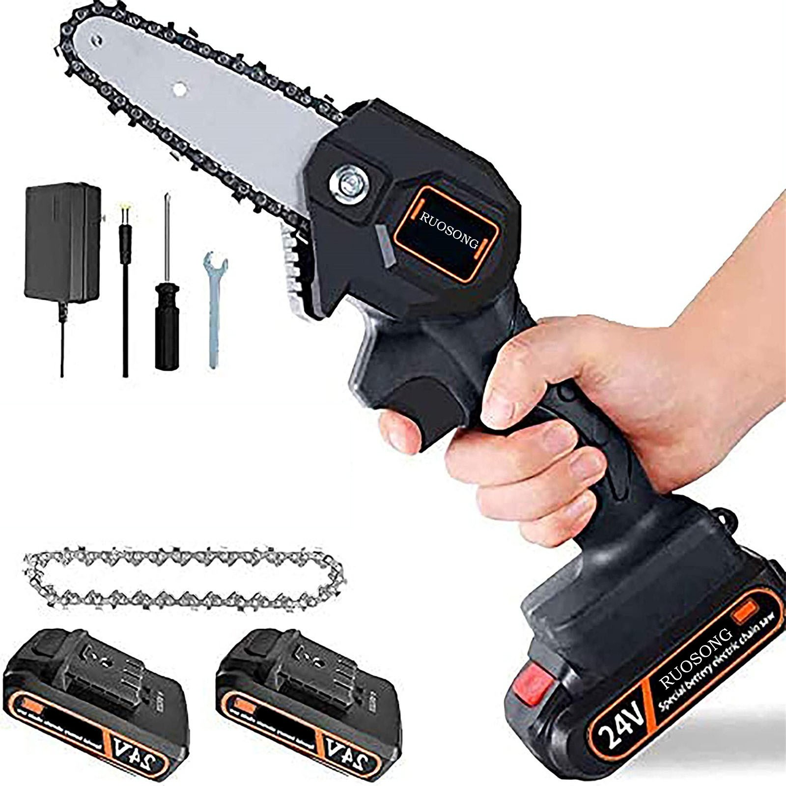 4 Inch The Mini Electric Chainsaw Ever Battery-powered Wood Cutter Rechargeable Best Price 2021 New Hot Sale