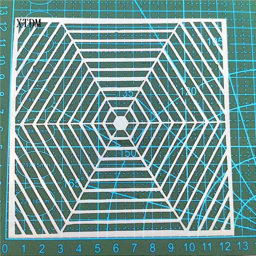 Spider web plastic mold shield DIY cake scrapbook stencils hollow Embellishments printing lace ruler Valentine s