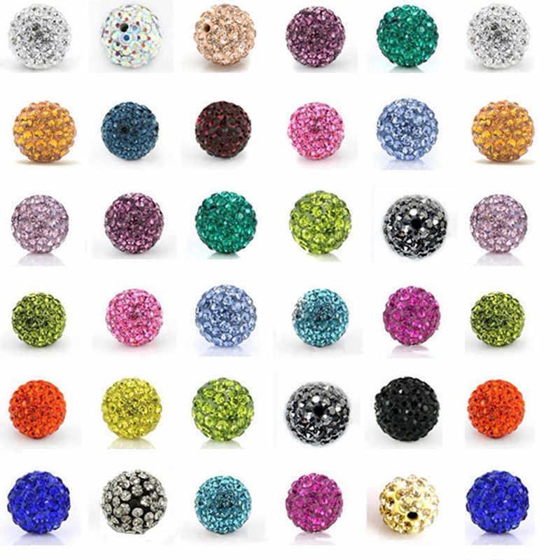 10Pcs 포장 CZ 디스코 볼 구슬 라인 석 크리스탈 스페이서 비즈 팔찌 액세서리 Kristall Strass Perlen