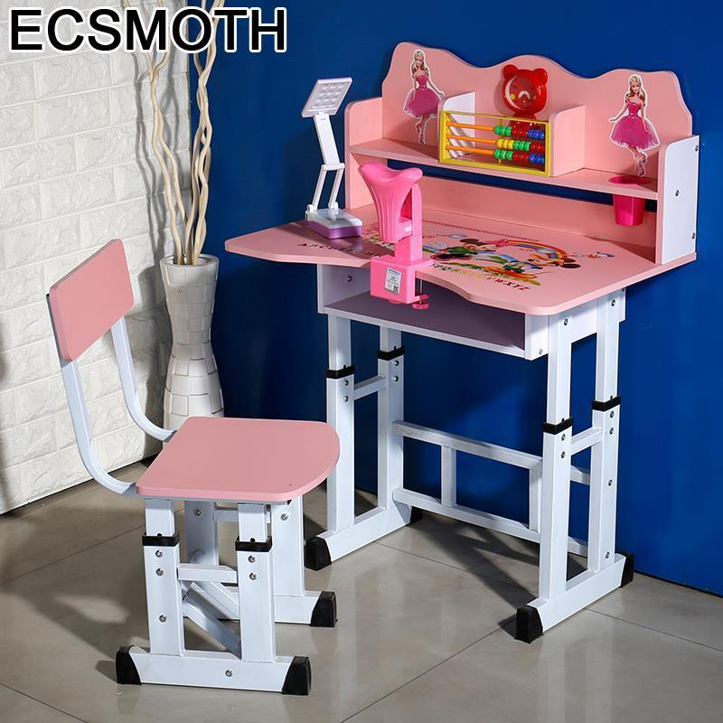 Infantiles De Estudo Desk Y Silla Children Cocuk Masasi Chair And Adjustable Mesa Infantil Bureau Enfant Study Table For Kids