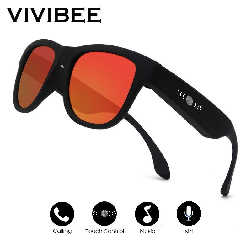 VIVIBEE Bone Conduction Sunglasses Music Zungle 2019 Trending Products Smart Men Women Polarized Audio Sun Glasses