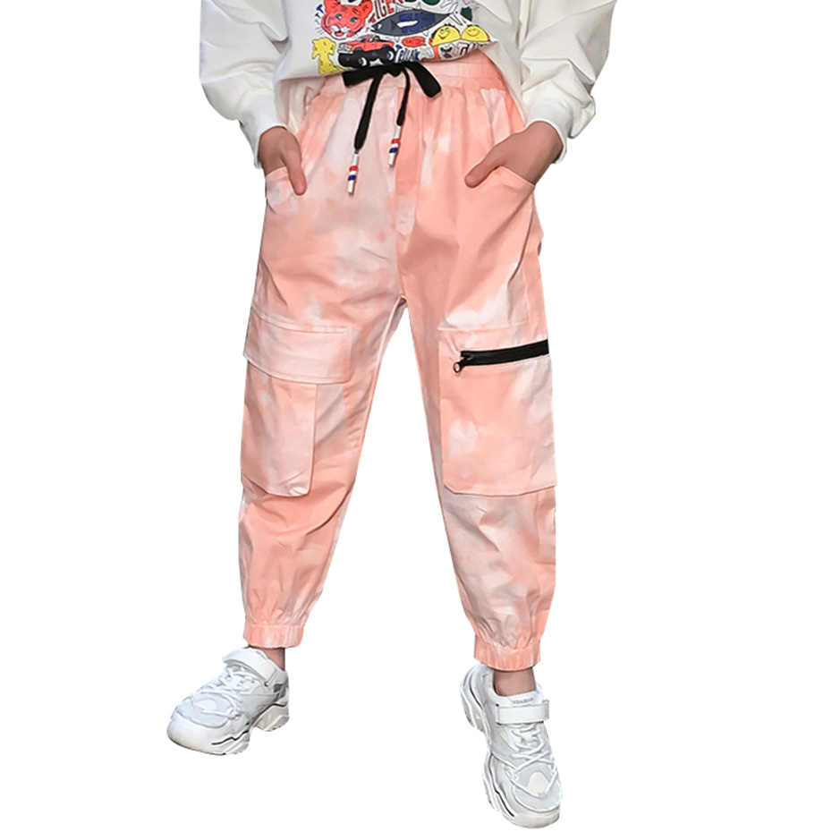 Pants For Girls Solid Pants Girls Fashion Drawstring Child Trouser Teenage Child Girl Cargo Pants For Kids Clothes 8 10 12 1