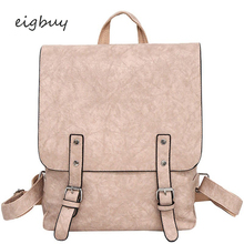 Large Capacity Shoulder Bag Girls Casual Rucksack Vintage Backpack Pu Leather School Backpacks Women Mochila Feminine casual double zipper women backpack drawstring pu leather bagpack large capacity travel bag female rucksack shoulder bag mochila